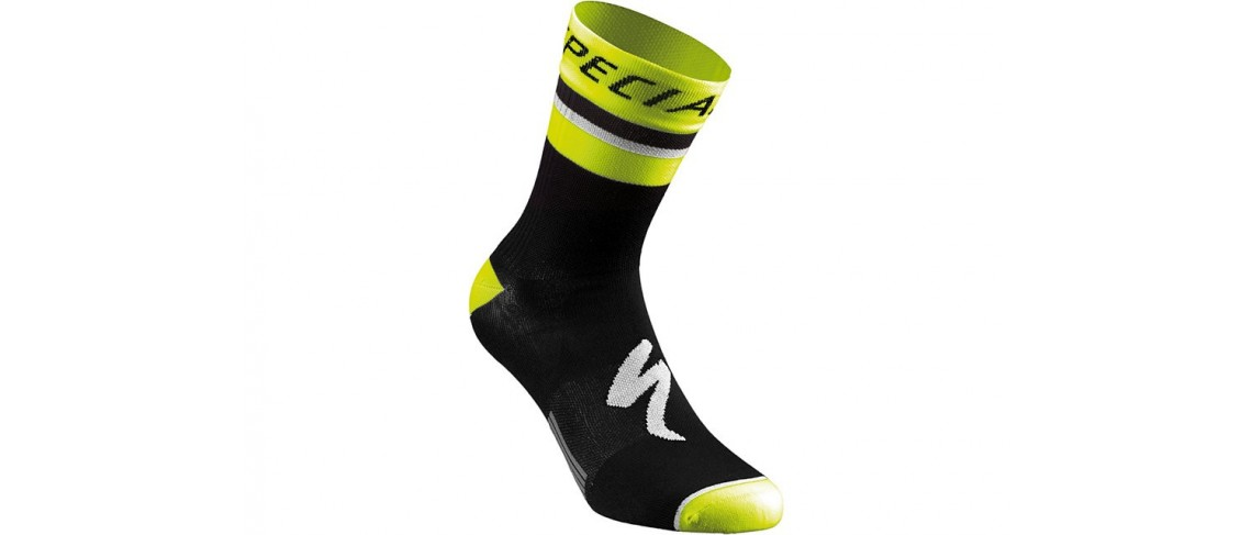 Rbx Comp Logo Summer Sock Specialized Black/Neon Yellow S
