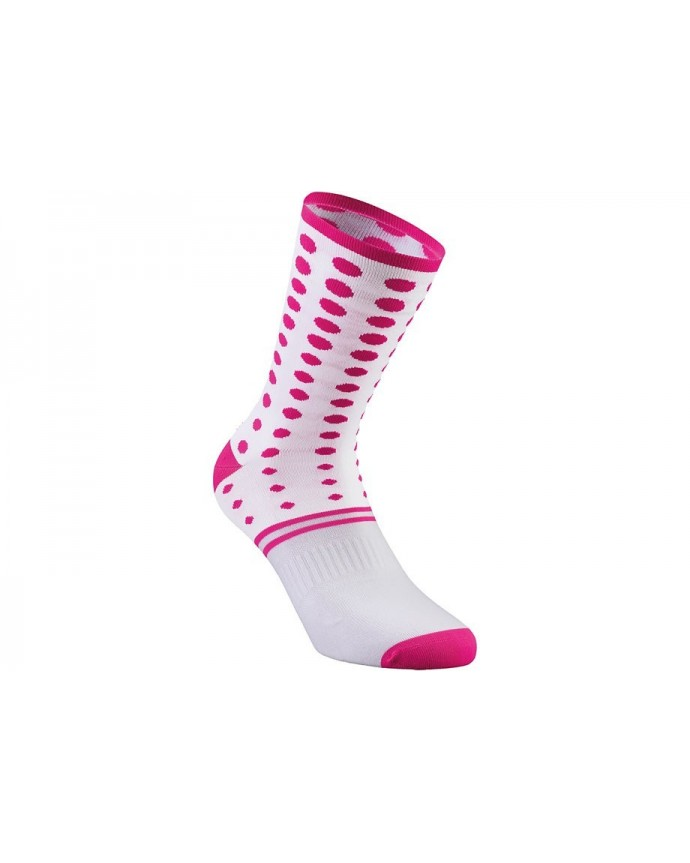 Dots Summer Sock Specialized White/Neon Pink XL