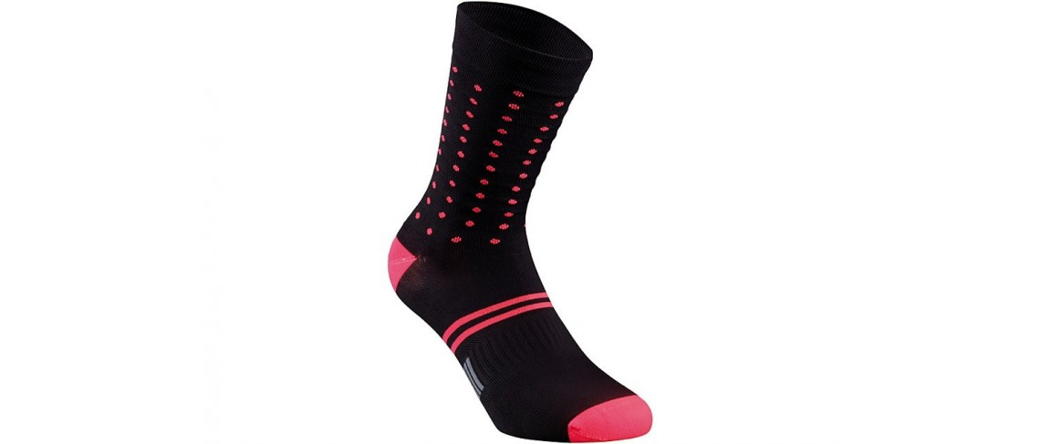 Dots Summer Sock Specialized Black/Acid Red XL