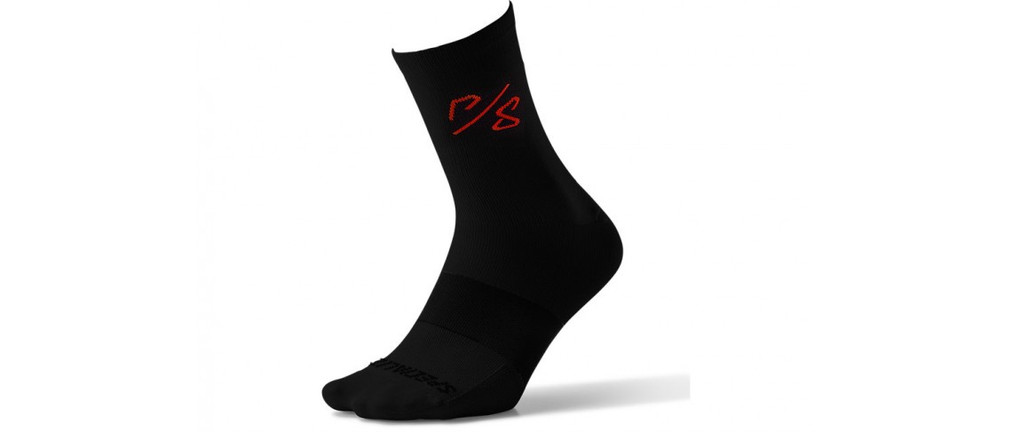 Soft Air Tall Sock Sagan Decon Specialized Black/ Red