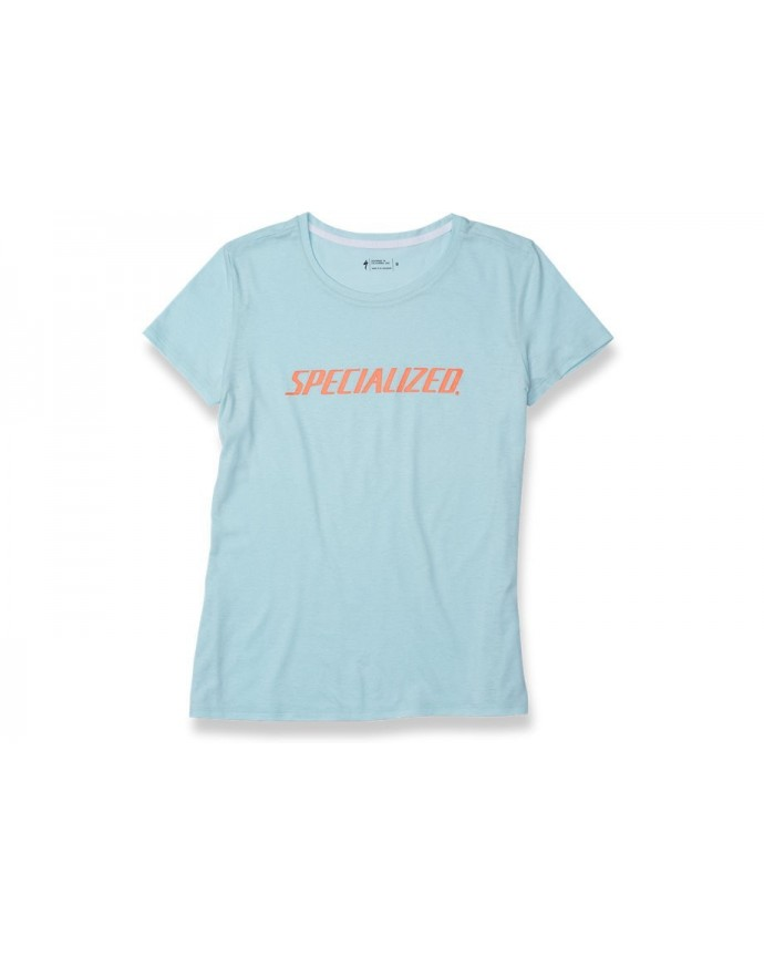 Standard T-Shirt Specialized Woman Baby Blue/Acid Lava