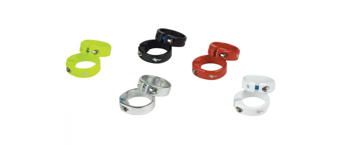 Grip Locking Ring 5 Pair Mix Anodized Solid Colors