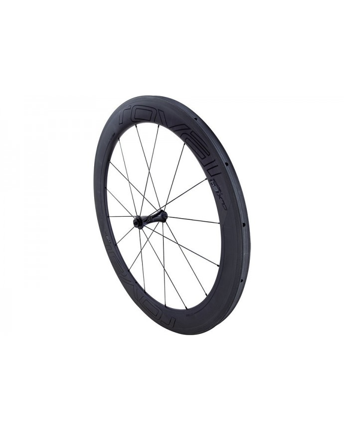 CLX 64 Front Wheel Tubeless System Roval Satin Carbon/Gloss