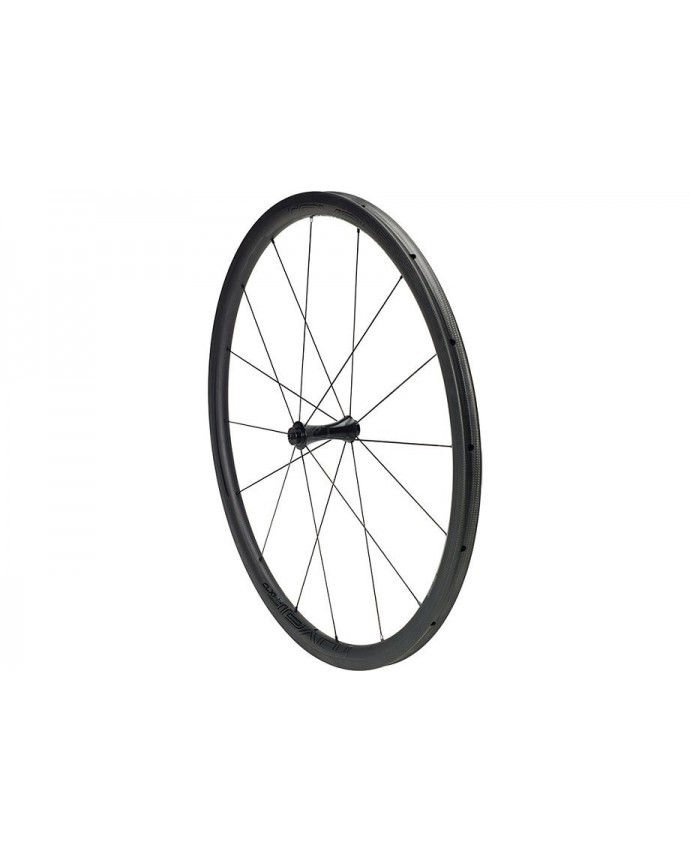 CLX 32 Tubeless Front Wheel Roval Satin Carbon/Gloss