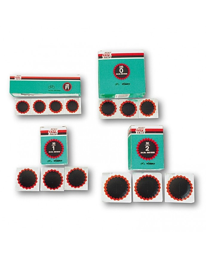 Box Patches Red 2 (30 Units) Tip-Top