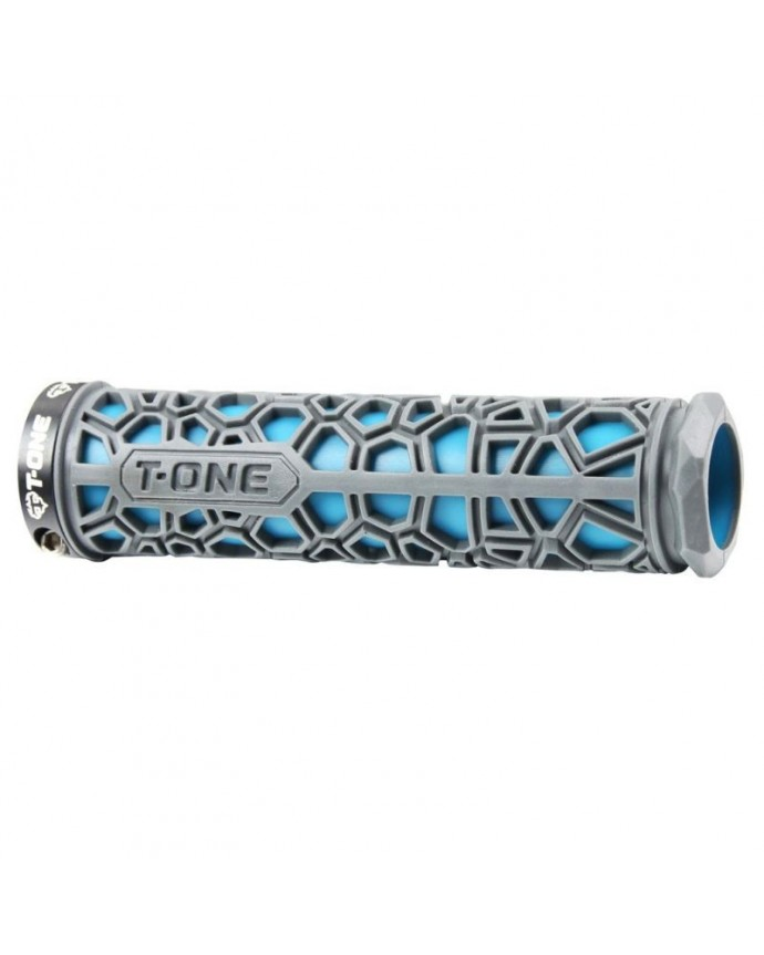 Grips Kit T-one H2o 130 Mm 1 Security Bolt  Blue/Grey