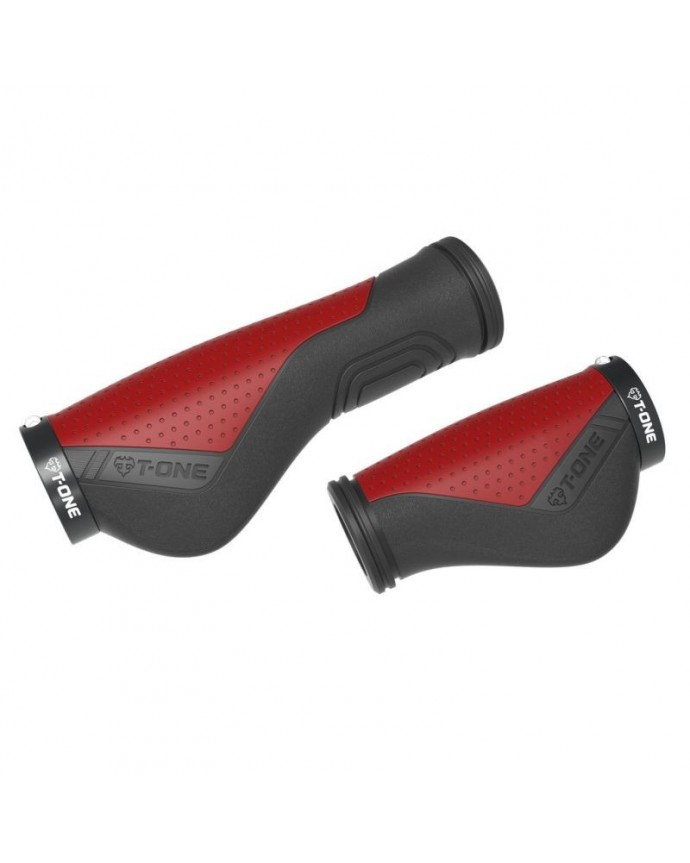 Grips Kit T-one Ripple Ergo 90/130 1 Security Bolt Black/Red