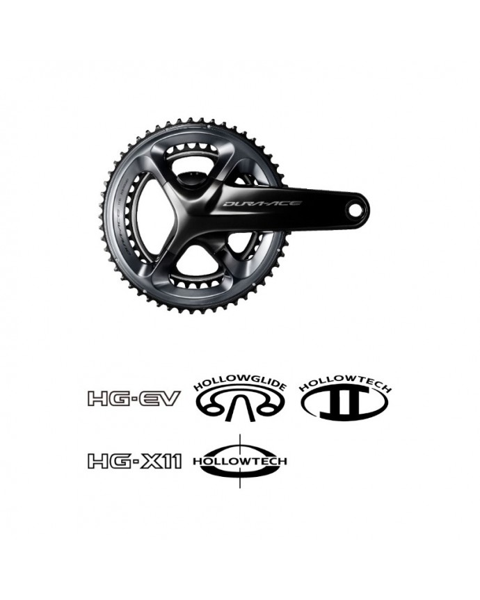 Crankset Dura Ace R9100 172,5 Dual Side Power Meter W/O Chainrings